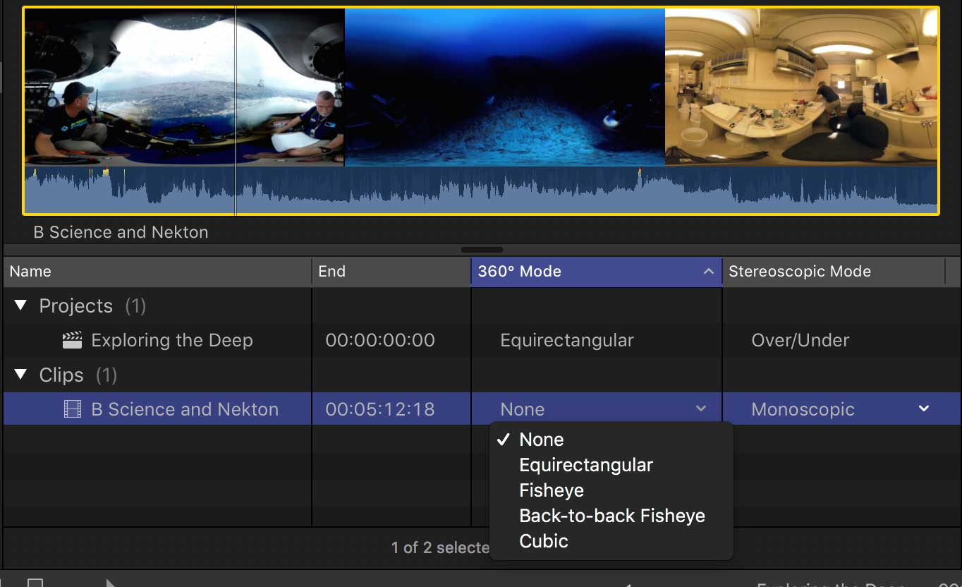 Final Cut Pro & 360° spherical video - All you need to know
