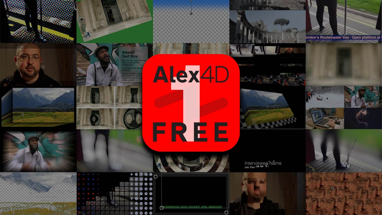 Alex4D Free 1 - 68 Final Cut Pro X plugins | Alex4D